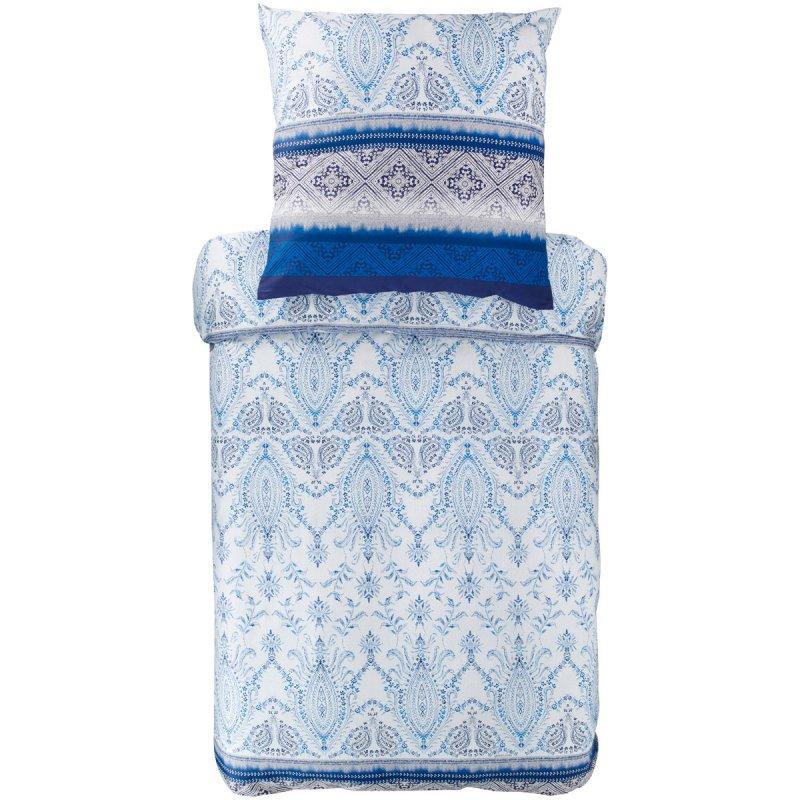 Bassetti Bettwäsche Mako Satin Faraglioni Blau Weiß
