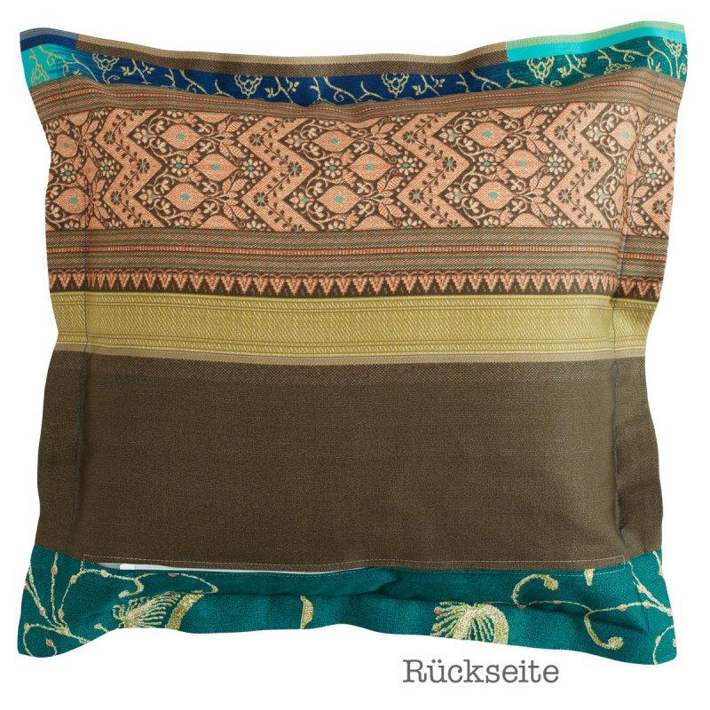 bassetti bettw sche mako satin kissen 40x40 cm bernina v2 petrol t rkis. Black Bedroom Furniture Sets. Home Design Ideas