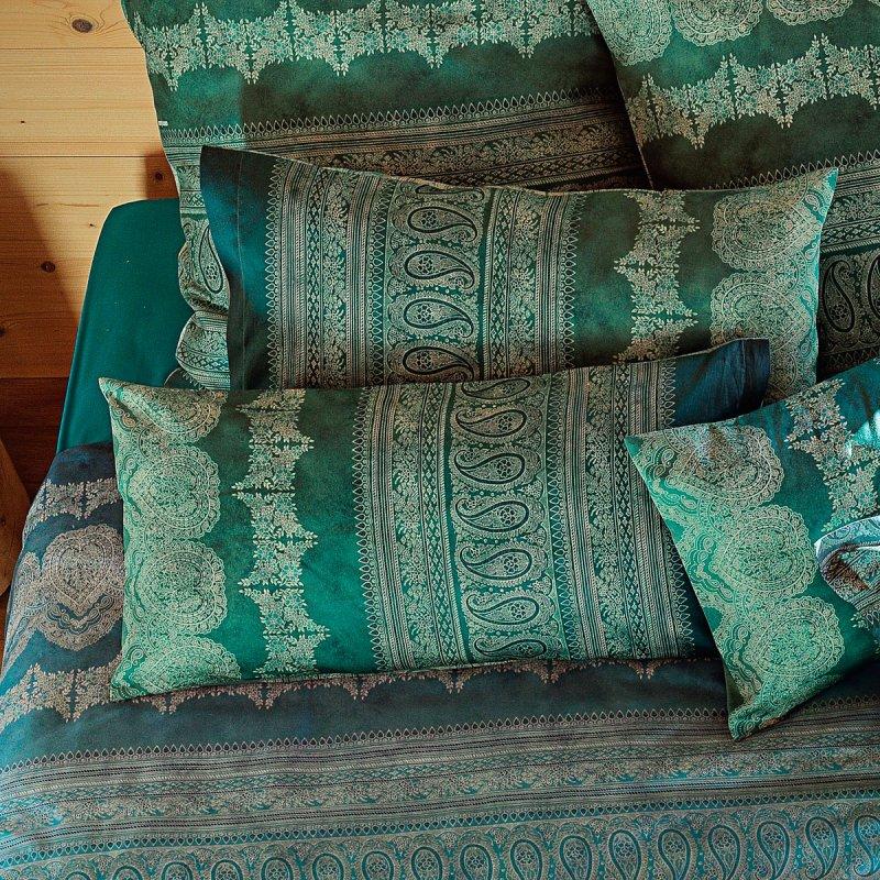 bassetti kissen 40x80 mako satin brunelleschi v4 neues gr n. Black Bedroom Furniture Sets. Home Design Ideas