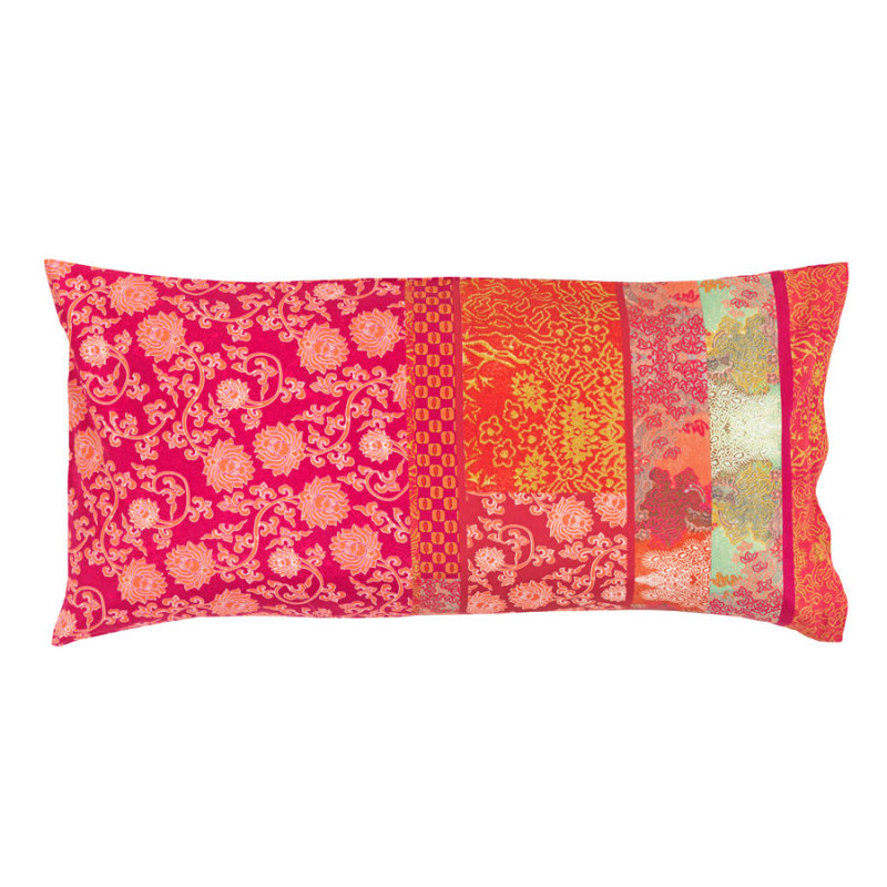 bassetti bettw sche mako satin kissenbezug 40x80 cm lacca v8 rot pink. Black Bedroom Furniture Sets. Home Design Ideas