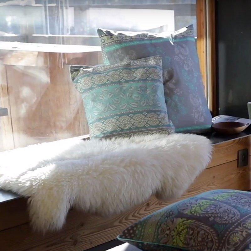bassetti kissen geflammt monte rosa perlgrau und beige 40x40 und 60x60 cm. Black Bedroom Furniture Sets. Home Design Ideas